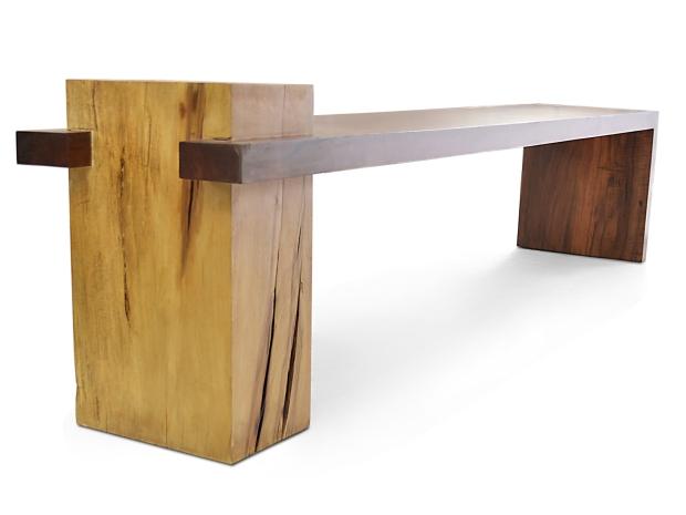 Rotsen-Furniture-Fazenda Bench - Walnut and Teak 10